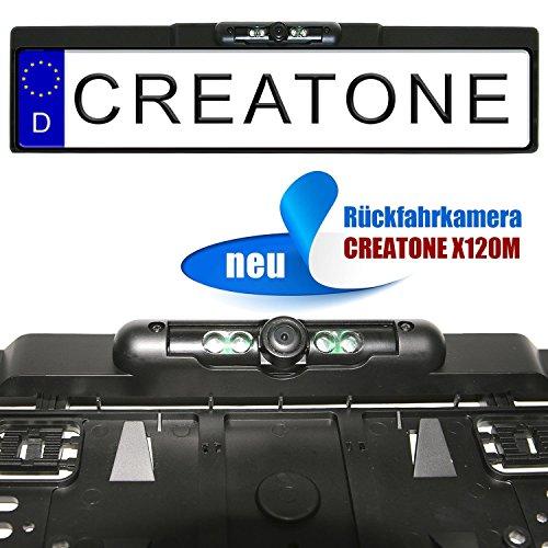 CREATONE-X120M-Rckfahrkamera-mit-Nachtsicht-IR-LEDs-in-Kennzeichenhalterung-l-170-Weitwinkel-Objektiv