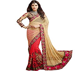 Sadhana Impex Womens Georgette and Net Saree