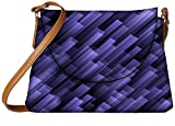 Snoogg abstract violet background Womens Carry Around Sling Bags