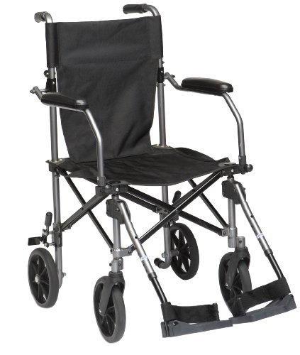 Drive Medical TC005 Fauteuil roulant de transport en aluminium 45,7 cm