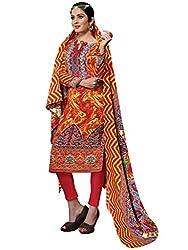 Parisha Pashmina Yellow & Orange Women's Chudidar Suit RHN7002