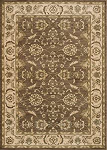 Area Rug 2x8 Runner Traditional Brown-Ivory Color - Loloi Rylan Rug from RugPal