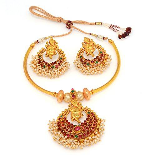 Alankruthi Gold copper Necklace Set for Women