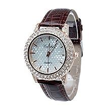buy Wensltd New Fashion Leather Rose Flower Watch For Women Dress Watch Quartz Watches