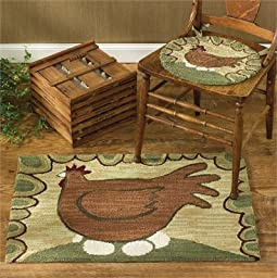 Park Designs Hen And Eggs Hooked Rug, 24 x 36\