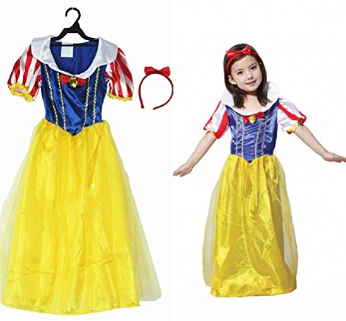 Purplebox Halloween Costumes Children Role Playing Snow White Skirt Tutu Dress