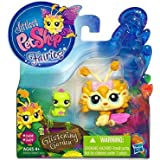 Littlest Pet Shop Fairies Glistening Garden Enchanted Figure Dandylion Fairy With Inchworm