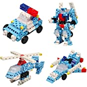 Click-A-Brick Rescue Squad 100pc Educational Toys Building Block Set - Best Gift For Boys And Girls