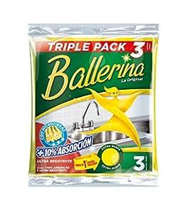Ballerina La Original Paños Multiuso, 1 paquete con 3 + 1 gratis