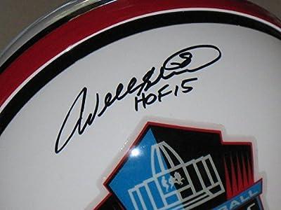 Will Shields Kansas City Chiefs Autographed Hall of Fame Mini Helmet - JSA COA