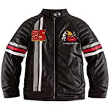 Disney Store Cars Lightning McQueen Faux Leather Motorbike Racing Jacket Costume Size Small 5/6 (5T)