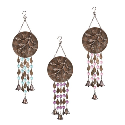 Grasslands Road Rustling Leaves With Bells Wind Chime Assortment, 6-Inch, Set Of 3