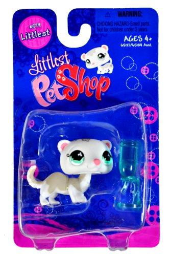 "Hasbro Year 2007 Littlest Pet Shop Single Pack ""Littlest"" Series Bobble Head Pet Figure Set #579 - W"