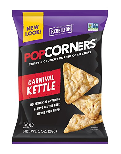 POPCORNERS Carnival Kettle, Popcorn Chips, Single Serve (1oz/40 Pack) (Kettle Popcorners compare prices)