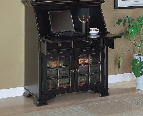 Cute Furniture Classic Antique Black Finish Fold Down