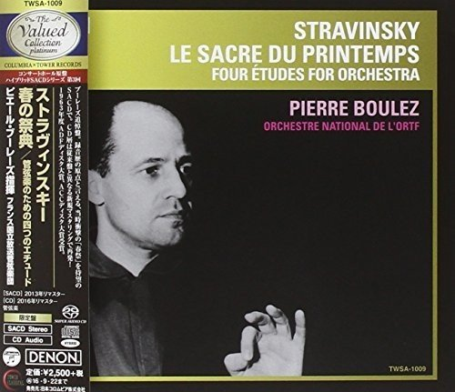 SACD : STRAVINSKY / BOULEZ,PIERRE - Stravinsky: Le Sacre Du Printemps / 4 Etudes
