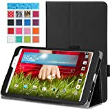 MoKo LG G Pad 8.3 Case - Slim Folding Cover Case for LG G PAD 8.3 Wifi Version V500/V510 & Verizon 4G LTE VK810, BLACK (With Smart Cover Auto Wake / Sleep, Interior Hand Strap, Stylus Pen Loop)