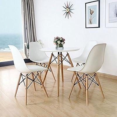 Lifetree Esszimmerst¨¹hle ohne Armlehne Designerstuhl Set wei? von Lifetree bei Gartenmöbel von Du und Dein Garten
