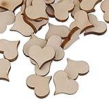 【ノーブランド 品】人気 木材チップ 結婚式 パーティー 撮影用 小物 カード 装飾 工芸品 DIY ハート形