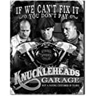 THREE STOOGES - KNUCKLEHEAD GARAGE - IF WE CAN'T FIX IT YOU DON'T PAY - FUNNY TIN METAL GARAGE MAN CAVE SIGN