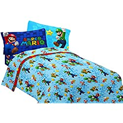 Nintendo Super Mario Fresh Look Sheet Set, Twin