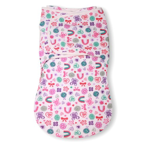 Summer Infant SwaddleMe WrapSack Blanket, Flower Power, Large