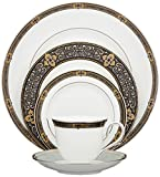 Lenox Vintage Jewel Platinum-Banded Bone China 5-Piece Place Setting, Service for 1