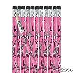 Pink I Love Paris Pencils - 24 pcs