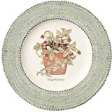 Wedgwood Sarah's Garden Fine Earthenware 8-Inch Salad Plates, Set of 4, Green