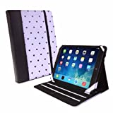 Tuff-Luv Slim Stand Faux Leather Case Cover with Sleep Function for Apple iPad Air - Purple Heart Print