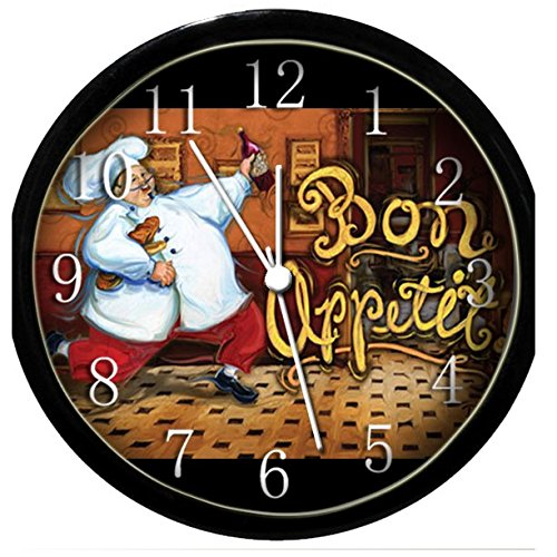3d Italian Fat French Chef Wall Clock Bistro Kitchen New