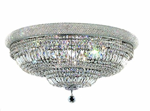 "Adele 20-Light 36""D Crystal Flush Mount 1533F36C-Rc"