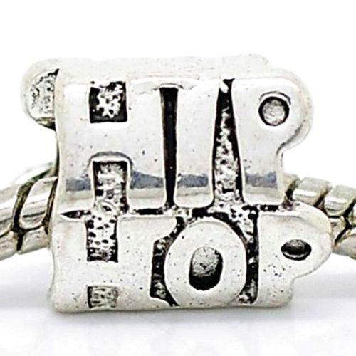 Charm Buddy Silver Plated Hip Hop Music Charm Bead Fits Pandora Troll Chamilia Bracelets