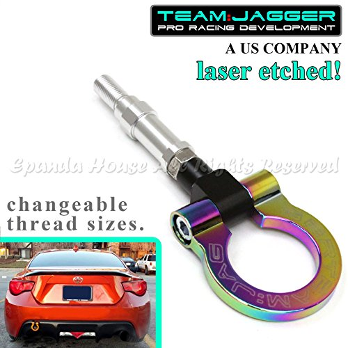 Team Jagger For 2013 Up Scion FR-S/Subaru BRZ/WRX STI Round Track Aluminum Tow Hook Neochrome (Wrx Sti Tow Hook compare prices)