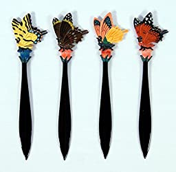 Wholesale Pack Handpainted Insect Butterfly Letter Opener (Set Of 12)