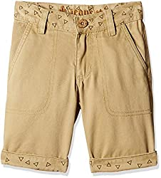 UFO Boys' Shorts (AW16-NDF-BKT-297_Khaki_10 - 11 years)