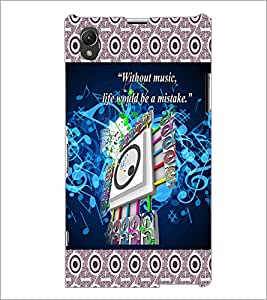 PrintDhaba Quote D-3182 Back Case Cover for SONY XPERIA Z1 (Multi-Coloured)