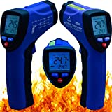 Maxsio Non-Contact Infrared Thermometer High Quality Best-Hand- Held, Gun-Style,Digital-Temperature-Thermometer Features Pinpoint Accurate with Laser sight - Auto-Shutoff - Data-Hold Function - Back-Lit LCD Display - Perfect Kitchen Or Automotive Diagnostic Thermometer