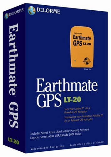 DeLorme Earthmate GPS LT-20 Street Atlas 2007 U.S.A./Canada Map DVD-ROM (Windows)