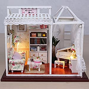 Top Max Wooden Dolls House With Furniture And Doll Family Toys Games