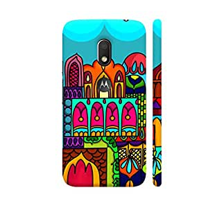Colorpur Windows Of India Designer Mobile Phone Case Back Cover For Motorola Moto G4 Play with hole for logo | Artist: Woodle Doodle