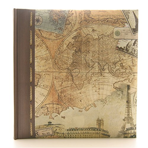 Kenro Old World Map Memo Photo Album holds 200 7x5''/13x18cm [HOL108] by Kenro