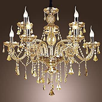 le design luxe 9 lustre chandelier avec strass en forme. Black Bedroom Furniture Sets. Home Design Ideas