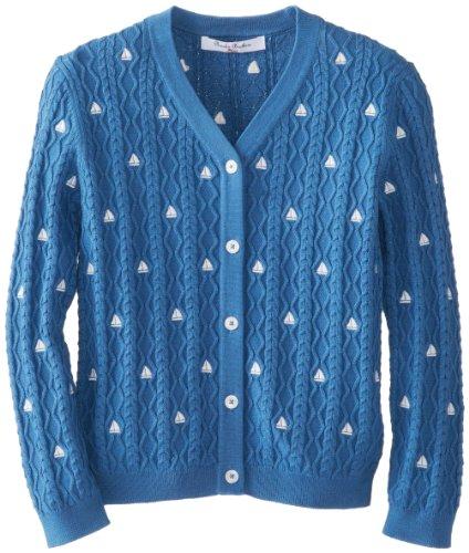Brooks Brothers 布克兄弟 Vneck Cable Emb Cardigan 女童棱织衫 $25.33