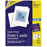 Avery Personal Creations Textured Heavyweight Note Card and Envelopes, 4-1/4 x 5-1/2, 50 per Box (3379)