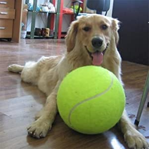 Urgreat 9.5 Inch Tennis Ball Signature Signal Mega Jumbo Larger Pets Toys Dogs Outdoor Sports Cricket