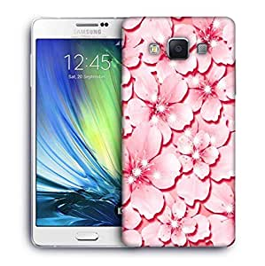 Snoogg Pink flower Designer Protective Back Case Cover For Samsung Galaxy ON5