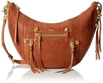 Botkier NY Logan Mini Hobo Shoulder Bag,Brandy,One Size