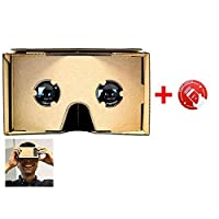 SeresRoad® Unassembled DIY Google Cardboard Cellphone Valencia Quality 3d Vr Virtual Reality 3D Glasses for iPhone Samsung HTC Moto X Nexus 5 Cellphones (With nfc) by SeresRoad