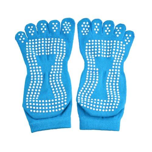 ELENKER™ Non Slip Skid Full Toe Yoga Socks non slip full toe socks for yoga workout fitness